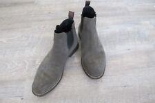 Herren Chelsea Boots Original Boss Orange, echt Leder chic in khaki, Gr.43