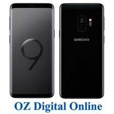 "NEW Samsung Galaxy S9 G960 64GB Black 12MP 4G 5.8"" Unlocked Phone 1 Year Au Wty"