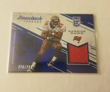2016 Warrick Dunn Elite Throwback Threads GAME JERSEY #'d 270/299 Tampa Bay