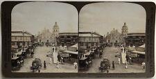 Manila iglesia de Binondo Filipinas Foto Estéreo Vintage