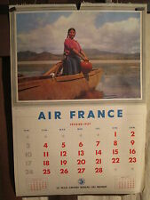 AIR FRANCE FEUILLE CALENDRIER EGYPTE CHILI 1957