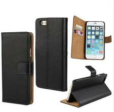 Real Genuine Leather Luxury Wallet Case Flip Cover New - For Apple iPhone Models