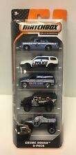 Matchbox Crime Squad 5-Pack Police Die-cast Cars Matchbox On A Mission 2013 NOS