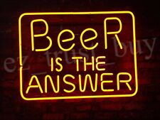 "New Beer Is The Answer Beer Man Cave Neon Light Sign 19""x15"""