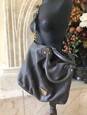 MARC JACOBS Classic Q Fran Gray Pebbled Leather Hobo/Shoulder Bag