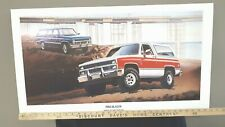 1983 BLAZER and SUBURBAN - GM Dealer Issue Board Poster/Sign - US