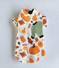 New ListingFall Pumpkins Flannel Night Day Shirt Pajamas Dog Puppy Pet Clothes Xxxs - Large