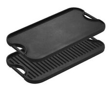 NEW LODGE CAST IRON LOGIC LPGI3 GRIDDLE GRID REVERSIBLE PRO 20 X 10.5 0426445