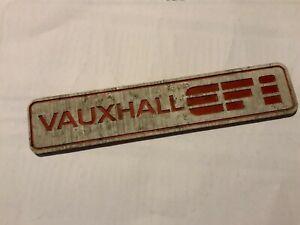 Vintage Vauxhall EFI Aluminium Badge Emblem