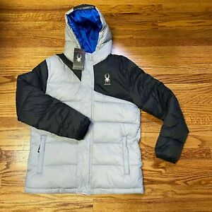 NEW!! Spyder Boys Youth Puffer Jacket Insulated Hooded, L 14/16