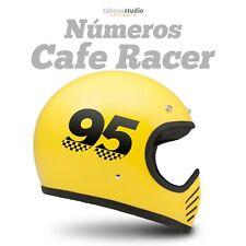 Stickers moto numeros adhesivos personalizados casco moto Cafe Racer vinilo