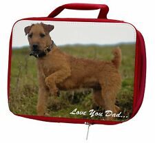 More details for lakeland terrier 'love you dad' insulated red school lunch box/picnic, dad-73lbr
