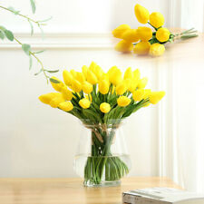 Artificial Plastic Mini Tulips Flower Real Touch Bridal Wedding Party Home Decor