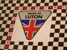 Made in Luton Chrome Sticker- Cresta Wyvern Velox Victor Viva Vauxhall CA Van