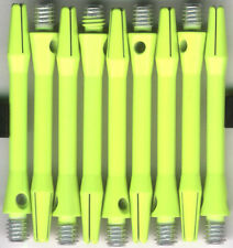 1.75in. 2ba NEON YELLOW V-GLO Aluminum Dart Shafts: 1 set of 3