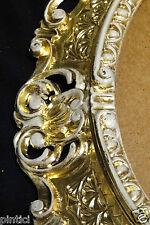 Cornici Ovale Oro-Bianco Retrò Foto Dello Specchio Barocco Stile Liberty 45x37