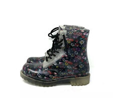 Dirty Laundry Floral Jelly Combat Boots Women's Size 6