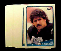 1988 Topps TODD CHRISTENSEN ~ 20 CARDS LOT ~ OAKLAND RAIDERS STAR TIGHT END
