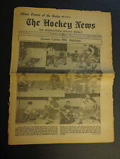 The Hockey News December 13, 1952 Vol.6 No.11 Sawchuck Delvecchio Sloan Dec '52