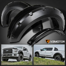 2015-2017 Ford F150 Pickup Pocket Rivet Style Black Wheel Fender Flares Cover