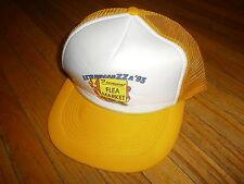 vtg FREMONT FLEA MARKET HAT Meshback Snapback Trucker Ohio 80s 90s 1993 Yellow