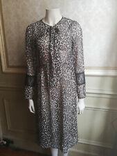 leopard chiffon see trough dresse robe leopard transparente T 38
