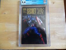 SECRET WARS #3 - CGC 9.4 CAPTAIN AMERICA COLOR GOLD FOIL!