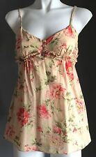So Pretty MOOLOOLA Floral Print Sleeveless Tie Back Cami Top Size 8