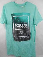 New Mens POPULAR DEMAND  Mint Green Graphic T-Shirt Size S***