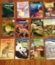 Lot 12 Children's Readers Level 1, 2, 3, 4 Science Animals Dinosaurs Insects Bat
