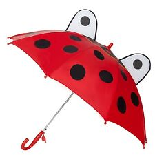 Cute Kids Children's Animal Umbrella 3D Ear Cartoon Hook Handle Rain Brolly