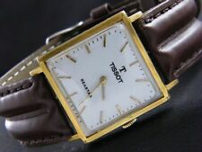 VINTAGE TISSOT SEASTAR WINDING SWISS MEN'S GOLD PLATED WATCH