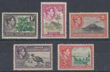 SOLOMON ISLANDS 1939 KGVI HIGH VALUES (x5) (ID:239/D19204)