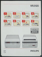 PHILIPS VR2120 Original VHS/VCR Videorecorder Bedienungsanleitung/Manual