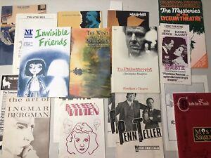Theatre Program Lot 1980s Ingmar Bergman Miss Saigon Penn and Teller ..more