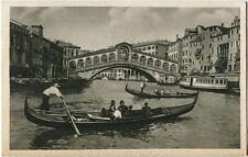 1933 Venezia - Ponte di Rialto, Gondola, Mostra Riv. Fascista - FP B/N VG ANIM