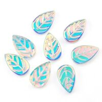 10pcs 9x18mm leaf shape beads glass crystal beads DIY necklace earring making