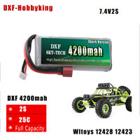 DXF 7.4V 2s 4200mah 20C Max 40C  Lipo battery For wltoys 12428 12423 car parts