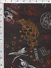 Fabri Quilt Horoscope New Dawn Scorpio sign 100% cotton fabric by the yard