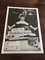 "1982 VINTAGE 8X11 PROMO PRINT Ad FOR THE ROLLING STONES ""STILL LIFE"" MICK JAGGER"