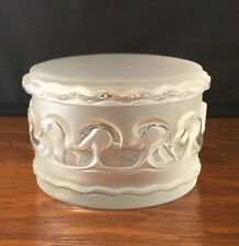 Labeled Lalique Crystal Swan Covered Glass Box- FREE SHIPPING