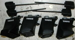 SET OF THULE 750 (now 754) FOOTPACK FOR RAPID SYSTEM WITH TENSIONERS AND LOCKS