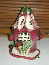 Blue Sky Clayworks Heather Goldminc Whimsical Tealight Apple Abode House
