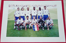 PHOTO PRO FOOTBALL EURO 2000 FRANCE-REPUBLIQUE TCHEQUE ZIDANE BLEUS DESCHAMPS