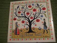 "Vintage Original LYCKANS FRAD Good Luck Tree TILE Trivet 6X6""  206"