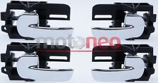 KIT OF 4 FRONT REAR LEFT RIGHT inner door handles for NISSAN QASHQAI 2007-2013