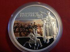 2009 1 oz. $1 Tuvalu The Battle of Balaklava 1854 Gem Proof Silver Coin