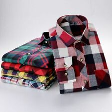 Men Plaid Shirt Warm Long Sleeve Shirt Plus Size For Male Business Casual Shirt