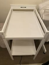 White changing table baby