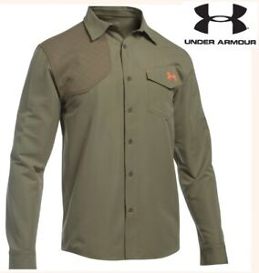UNDER ARMOUR prey shooting shirt long sleeve hunting quick dry olive green men L